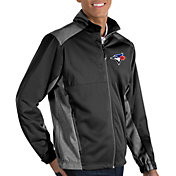 Antigua Men's Toronto Blue Jays Revolve Black Full-Zip Jacket