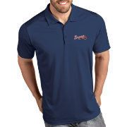 Antigua Men's Atlanta Braves Tribute Navy Performance  Polo