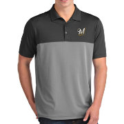 Antigua Men's Milwaukee Brewers Venture Grey Performance Polo