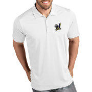 Antigua Men's Milwaukee Brewers Tribute White Performance  Polo