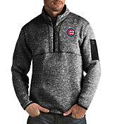 Antigua Men's Chicago Cubs Fortune Black Half-Zip Pullover