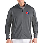 Antigua Men's Chicago Cubs Grey Passage Full-Zip Jacket