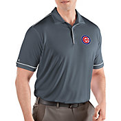 Antigua Men's Chicago Cubs Salute Grey Performance Polo