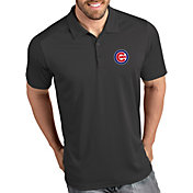 Antigua Men's Chicago Cubs Tribute Grey Performance  Polo
