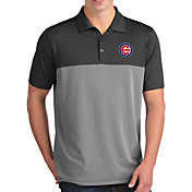 Antigua Men's Chicago Cubs Venture Grey Performance Polo