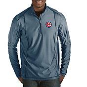 Antigua Men's Chicago Cubs Tempo Navy Quarter-Zip Pullover