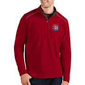 Antigua Men's Chicago Cubs Red Glacier Quarter-Zip Pullover