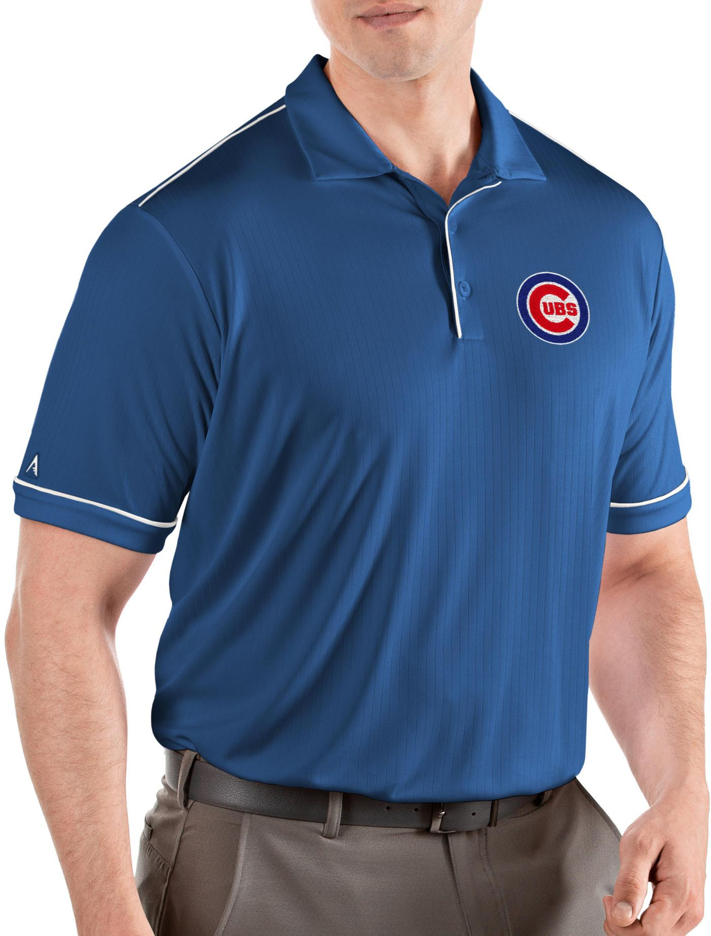 Antigua Men's Chicago Cubs Salute Royal Performance Polo