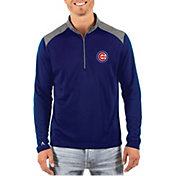 Antigua Men's Chicago Cubs Velocity Quarter-Zip Pullover