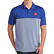 Antigua Men's Chicago Cubs Venture Royal Performance Polo