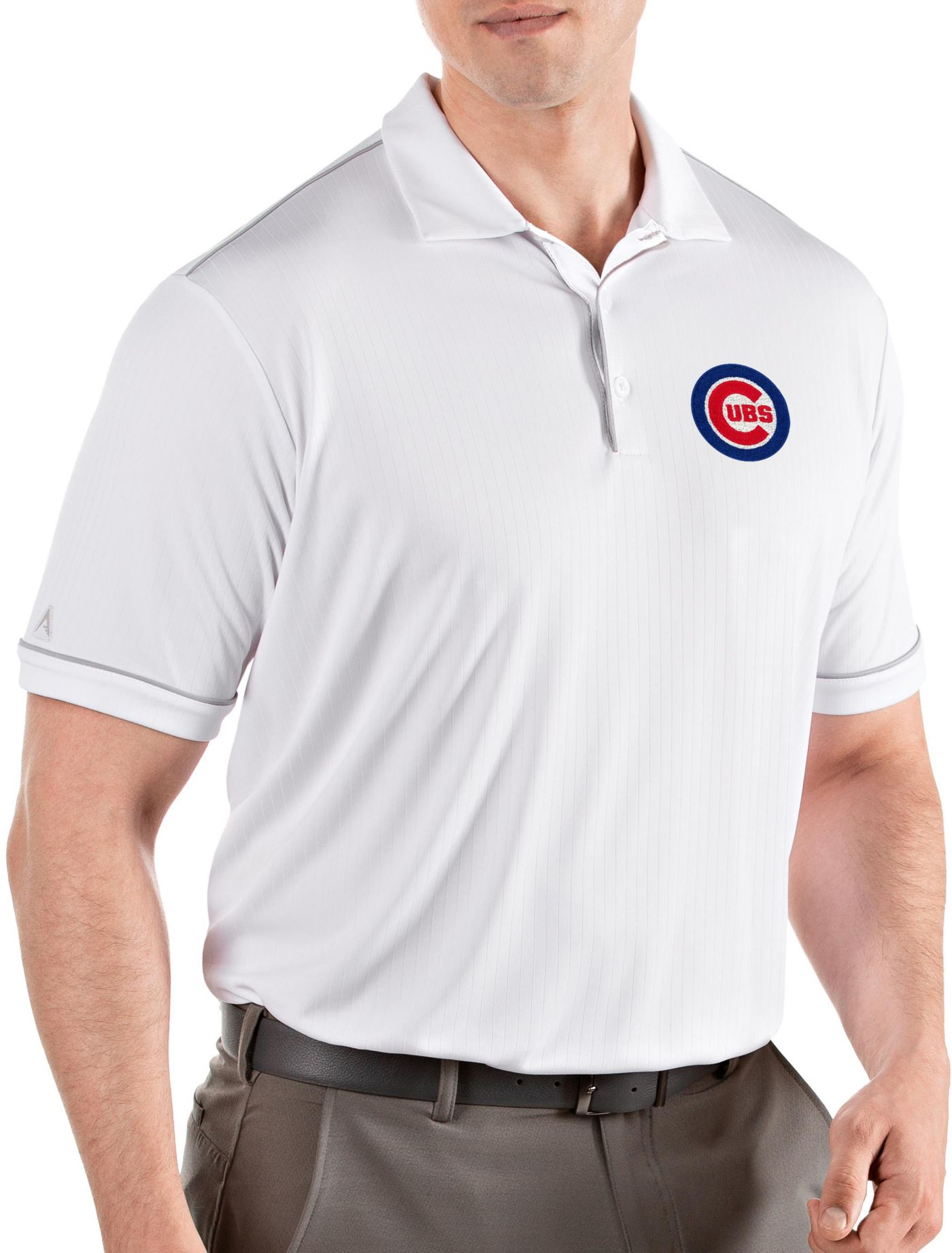Antigua Men's Chicago Cubs Salute White Performance Polo