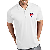 Antigua Men's Chicago Cubs Tribute White Performance  Polo