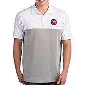 Antigua Men's Chicago Cubs Venture White Performance Polo