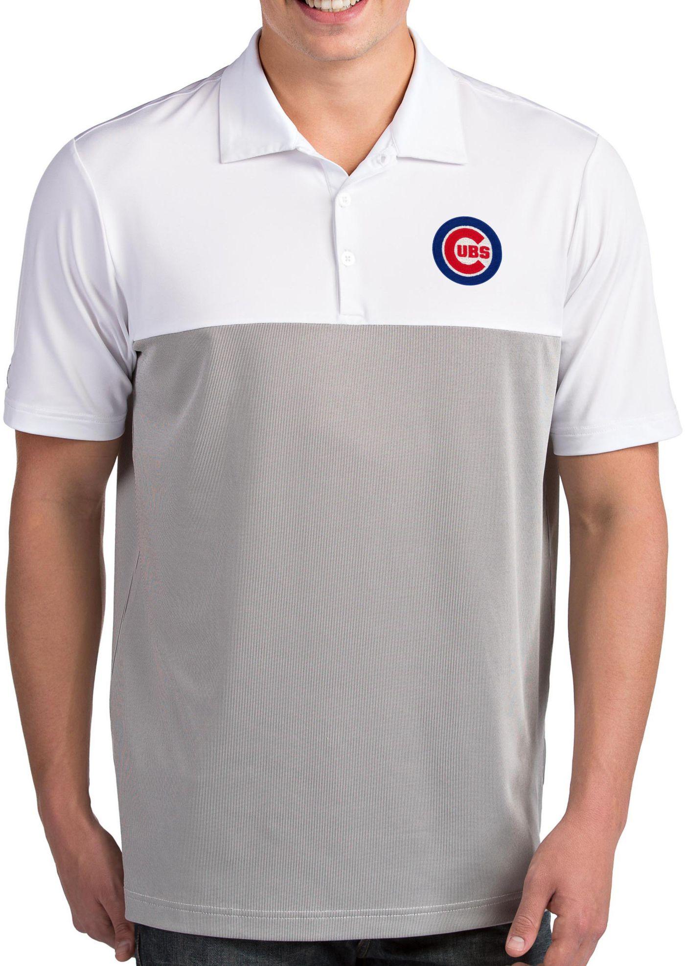 Antigua Men's Chicago Cubs Venture White Performance Polo