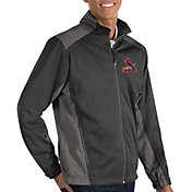 Antigua Men's St. Louis Cardinals Revolve Grey Full-Zip Jacket