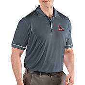 Antigua Men's St. Louis Cardinals Salute Grey Performance Polo