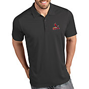 Antigua Men's St. Louis Cardinals Tribute Grey Performance  Polo