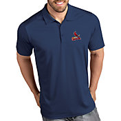 Antigua Men's St. Louis Cardinals Tribute Navy Performance  Polo