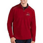Antigua Men's St. Louis Cardinals Red Glacier Quarter-Zip Pullover