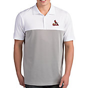 Antigua Men's St. Louis Cardinals Venture White Performance Polo