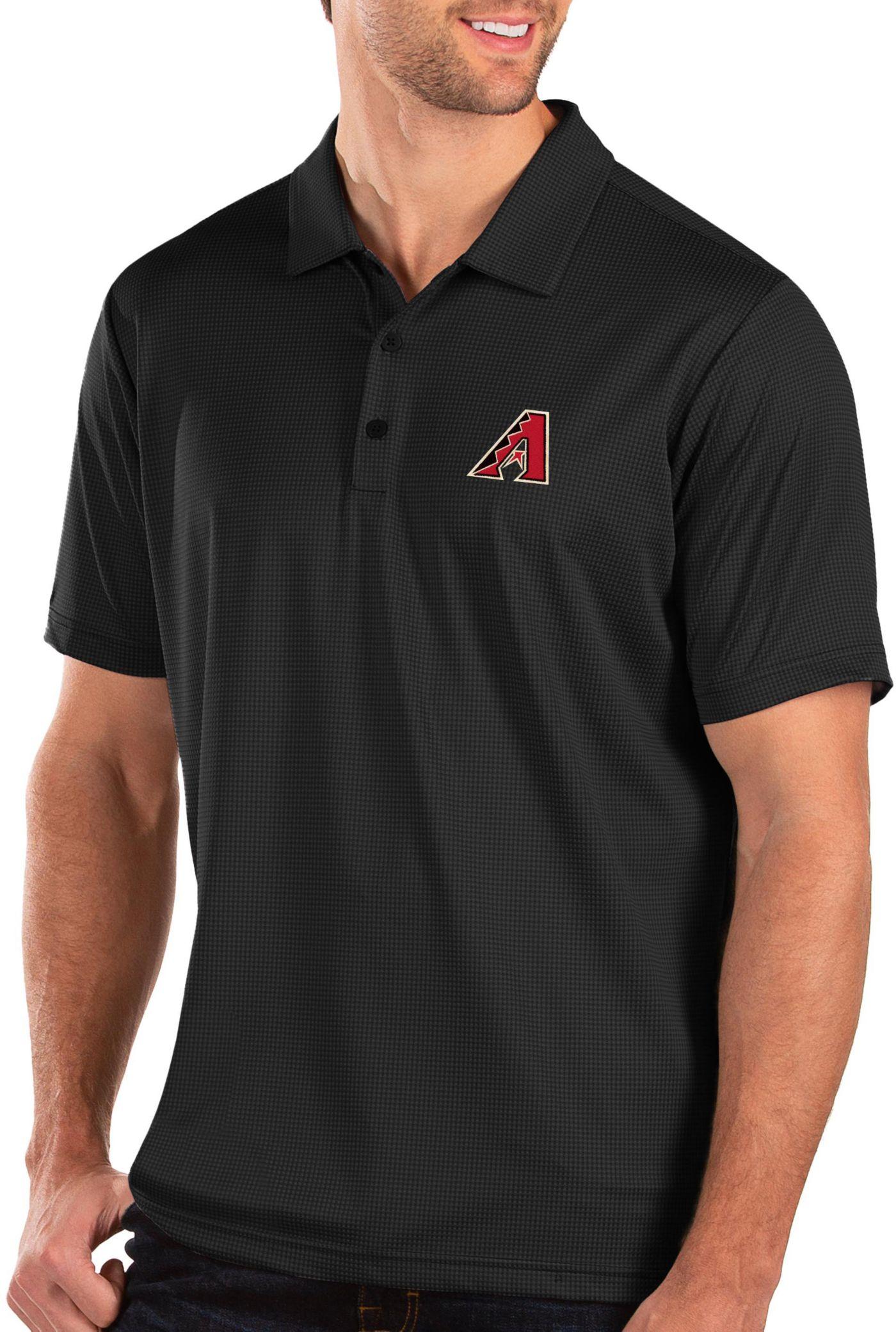 Antigua Men's Arizona Diamondbacks Black Balance Polo