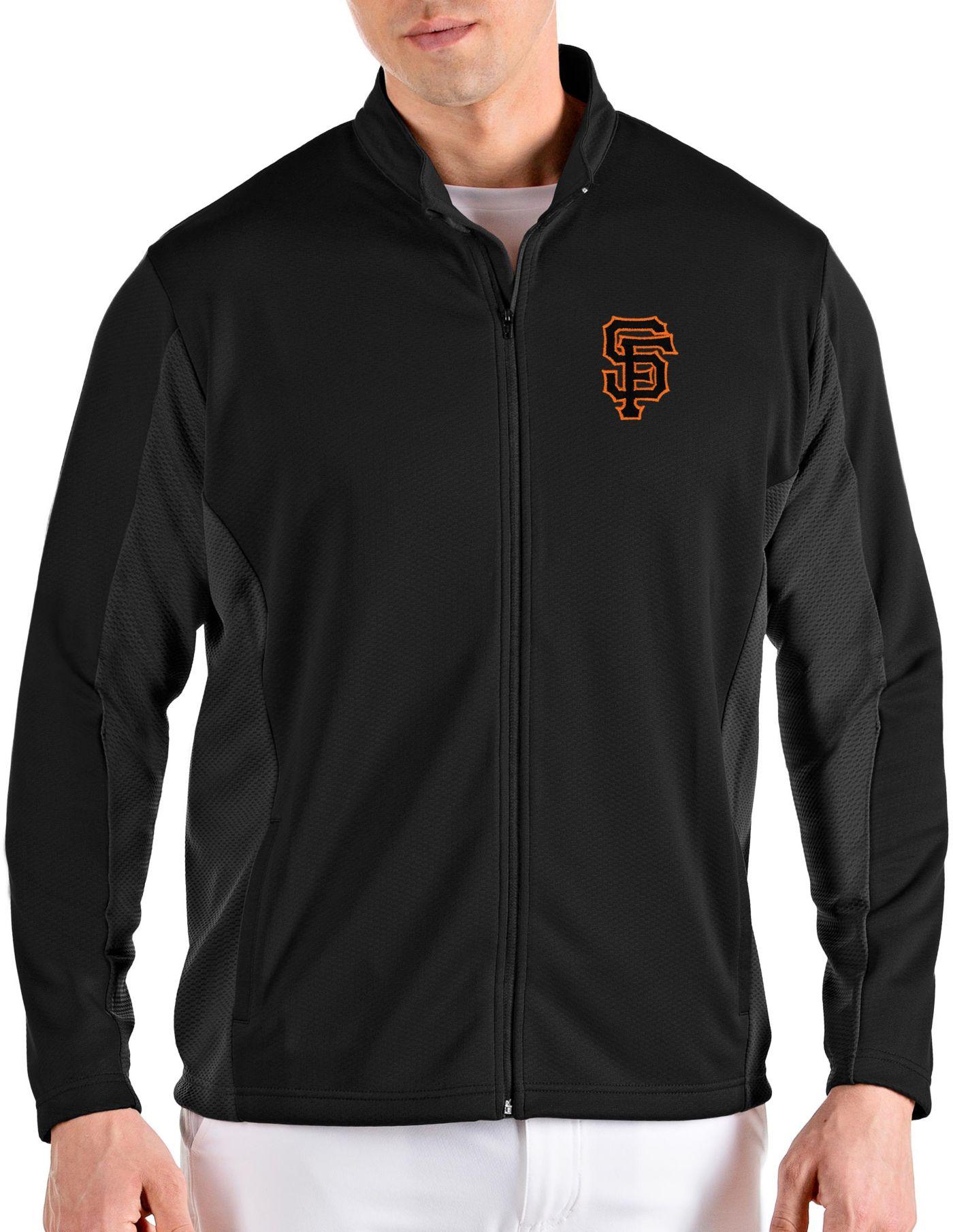 Antigua Men's San Francisco Giants Black Passage Full-Zip Jacket