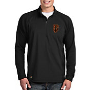 Antigua Men's San Francisco Giants Black Sonar Performance Quarter-Zip Pullover