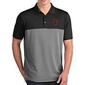 Antigua Men's San Francisco Giants Venture Black Performance Polo