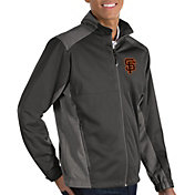 Antigua Men's San Francisco Giants Revolve Grey Full-Zip Jacket