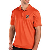 Antigua Men's San Francisco Giants Orange Balance Polo