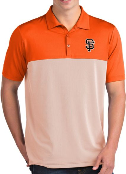 b568bc0b Antigua Men's San Francisco Giants Venture Orange Performance Polo ...