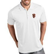Antigua Men's San Francisco Giants Tribute White Performance  Polo