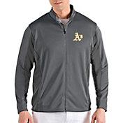 Antigua Men's Oakland Athletics Grey Passage Full-Zip Jacket