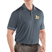 Antigua Men's Oakland Athletics Salute Grey Performance Polo