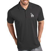 Antigua Men's Los Angeles Dodgers Tribute Grey Performance  Polo
