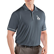 Antigua Men's Los Angeles Dodgers Salute Grey Performance Polo