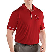 Antigua Men's Los Angeles Dodgers Salute Red Performance Polo
