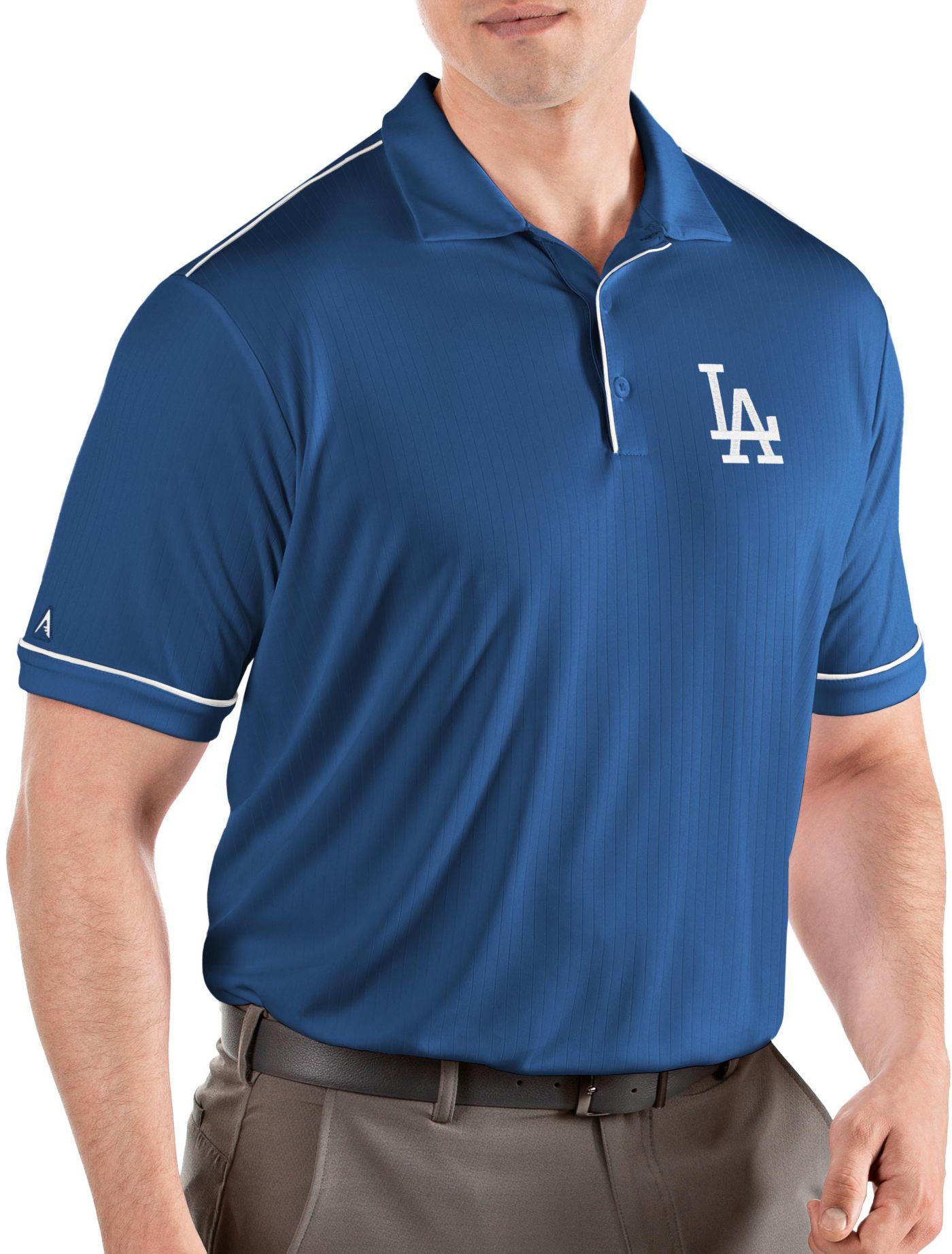 Antigua Men's Los Angeles Dodgers Salute Royal Performance Polo
