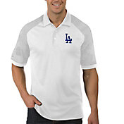 Antigua Men's Los Angeles Dodgers Engage White Polo