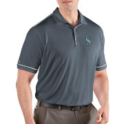 Antigua Men's Seattle Mariners Salute Grey Performance Polo