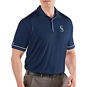 Antigua Men's Seattle Mariners Salute Navy Performance Polo