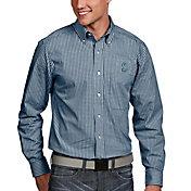 Antigua Men's Seattle Mariners Associate Navy Long Sleeve Button Down Shirt