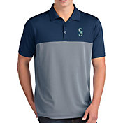 Antigua Men's Seattle Mariners Venture Navy Performance Polo