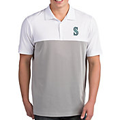 Antigua Men's Seattle Mariners Venture White Performance Polo