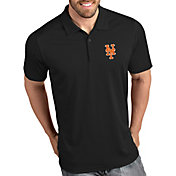 Antigua Men's New York Mets Tribute Black Performance  Polo