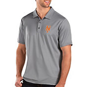 Antigua Men's New York Mets Grey Balance Polo