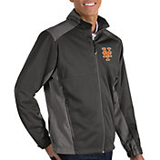 Antigua Men's New York Mets Revolve Grey Full-Zip Jacket