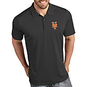 Antigua Men's New York Mets Tribute Grey Performance  Polo