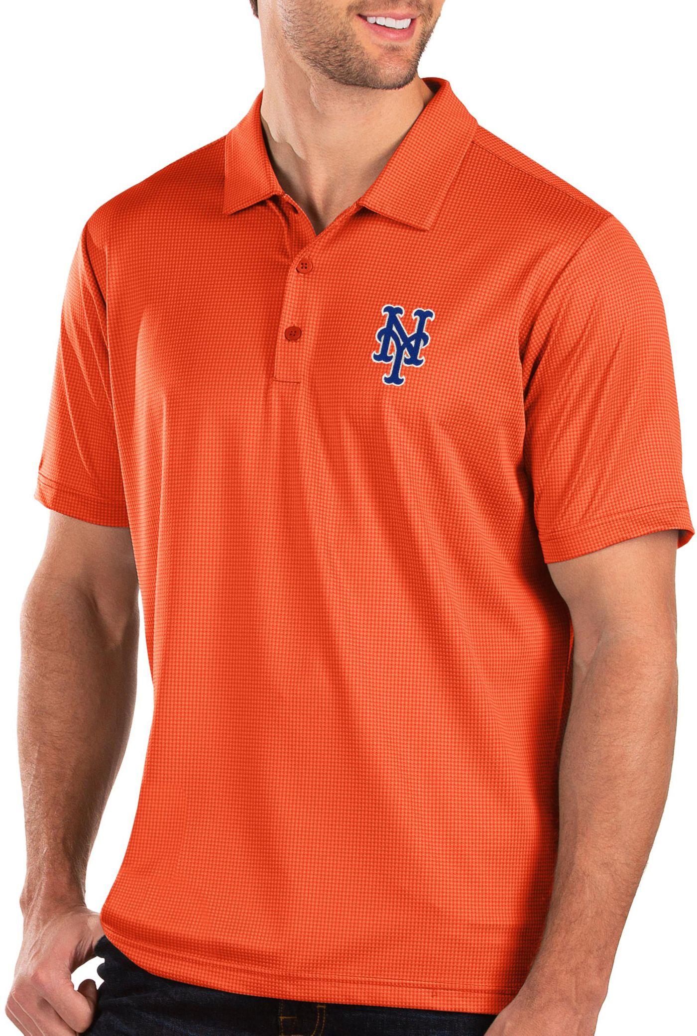 Antigua Men's New York Mets Orange Balance Polo