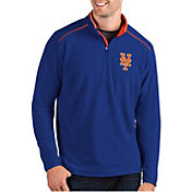 Antigua Men's New York Mets Royal Glacier Quarter-Zip Pullover